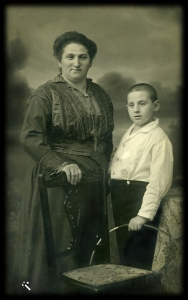 Jenny Lewin and her son Siegfried