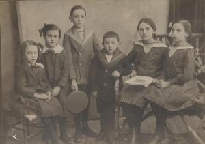 ששת ילדי לוין הצעירים (משמאל): מארי, פרידה, ולטר, זיגפריד, פולה, רוזה