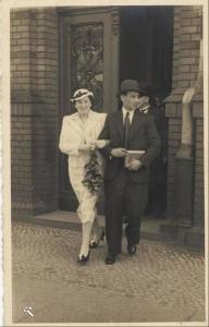 מארי ובעלה השני, ג׳יימס היינמן (James Heinmann) לאחר חתונתם