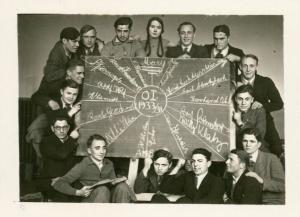 הכיתה עמה סיים קרל בית ספר תיכון ב-1933: קרל למטה משמאל