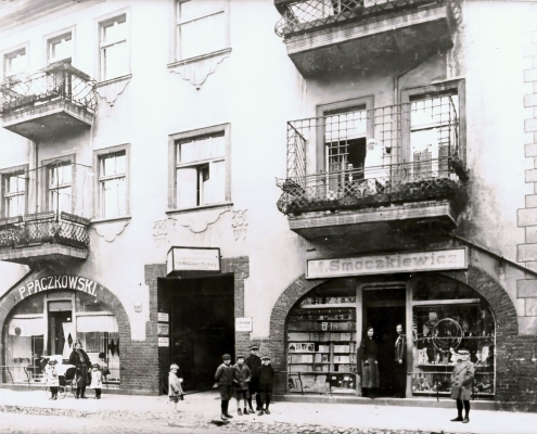 The house on Hauptstrasse and shop, 1928