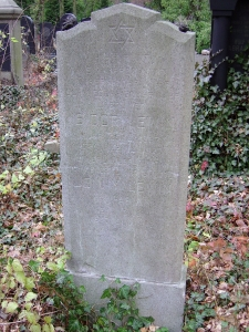 Isidor and Jenny Lewin's grave in the Weissensee Cemetery, Berlin