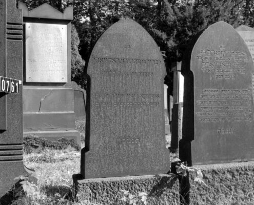 Bernhard (left) and Cornelia Gradwohl's tombstones